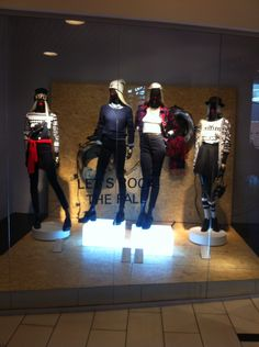 LET'S ROCK THE FALL - H&M divided red window (exam window made by visual merchandiser trainee)