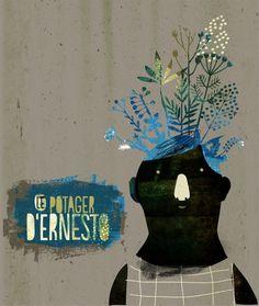 'Ernest' (2011) by French illustrator & artist Nikao. via the artist's blog