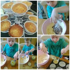 OneBlueOnePink:  Apple and Sultana cupcakes