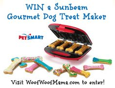 Win a Sunbeam Gourmet Dog Treat Maker. Currently sold out everywhere, so don't miss your chance to enter!