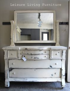 This is what I want to do to my dresser - perfect!!! Empire dresser in white