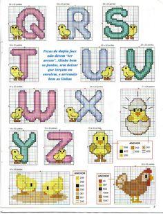 Laurinha - BORDADOS EM PONTO CRUZ: Alfabeto Infantil