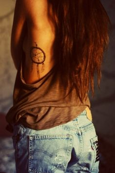 I want a dream catcher on my left arm, since your left hand symbolizes evil and dream catchers destroy that