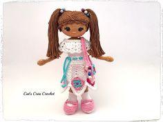 Blandine, poupée au crochet de la boutique CatsCreaCrochet sur Etsy