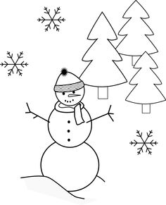 Black and White Snowman Catching