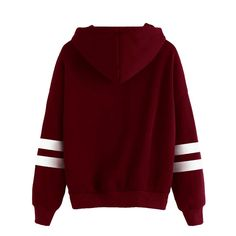 00a9afef52e Women Blouse HGWXX7 Stitching Long Sleeve Warm Hoodie Sweatshirt Jumper  Hooded Pullover Tops Blouse S Wine Red -- Click image to review more  details.