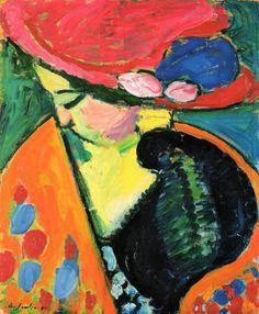 zijperspace: She Wore Flowers on Her Hat, Day XXIX:'Gesenkter Kopf' - Alexej von Jawlensky.