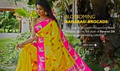 A Shalu is a regional variant of a saree from #Banaras. Rich and opulent, #BanarasiShalusilksarees are especially designed for weddings and are popularly referred to as bridal #weddingsarees.
