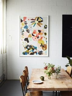 Bright colorful abstract wall art
