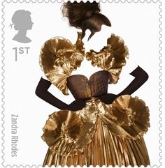 New line of British mail stamps. The best of British fashion designers.