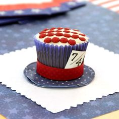 Mad Hatter's Fourth of July Teacakes