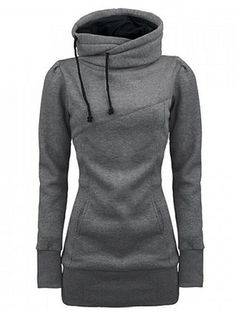 Newchic provides you with all styles of hoodie sweatshirts. Black pullover hoodie, hooded sweatshirts, crew neck sweatshirts, and crop hoodie for women are hot-sale Mobile. Hoodie Sweatshirts, Pullover Shirt, Sweat Shirt, Long Hoodie, Grey Hoodie, Hoody, Sweater Hoodie, Grey Sweater, Look Fashion