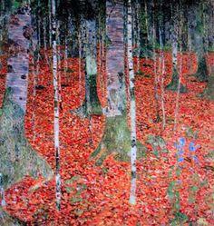 Farmhouse with Birch Trees by Gustav Klimt- Art gallery oil. Gustav Klimt, Art Klimt, Henri De Toulouse Lautrec, Monet, Abstract Landscape, Landscape Paintings, New York Times Arts, Art Nouveau Tiles, Oil Painting Reproductions