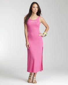 36775d969c9 bebe Logo Rib Tank Dress - MAGENTA (L) - Fashion!   Sag0.com