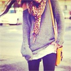 Sweater with scarf and leggings<3