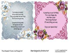 Delicate Floral Inserts 1 On Craftsuprint Designed By Christine Hart