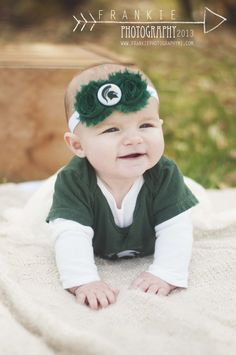 Michigan State University baby headband, Baby Headbands,Newborn Headband,Shabby Chic Headband,Baby Bows. on Etsy, $7.95