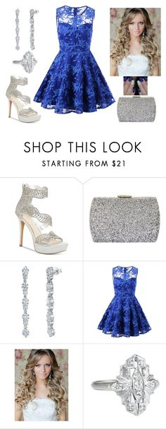 """""""Sparkling blue"""" by paoladouka on Polyvore featuring Jessica Simpson, Natasha, Jools by Jenny Brown, Vintage, beautiful, Blue, Silver, dress and women"""