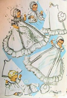 1960s BEAUTIFUL INFANT BOYS or GIRLS BABY CHRISTENING  SPECIAL OCCASION WARDROBE PATTERN  McCALLS PATTERNS 7718