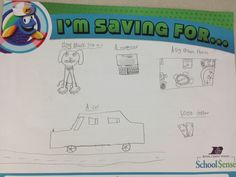 An elementary student saving for LOTS!