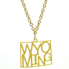 Kris Nations Wyoming State Necklace