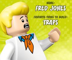 LEGO Fred loves to build clever traps to catch villains. What do you like to build? #LEGOScoobyDoo
