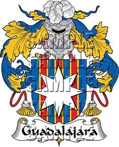 Guadalajara Family Crest apparel, Guadalajara Coat of Arms gifts