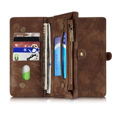 for iphone 7 Plus Genuine Leather Case Phone Cases Cover sFor Apple iphone 7Plus i7 Plus Multifunction Zipper Wallet Phone Bag
