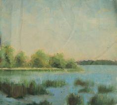 """Lough Ramor Virginia Co Cavan.Oil on Canvas.8""""x9""""."""