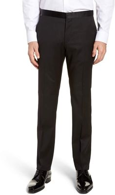 5084bbaf32b28 BOSS Gilan CYL Flat Front Wool Trousers Tall Pants, Mens Big And Tall, Boss