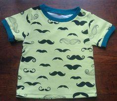 Mustache T-shirt. Boys thing.