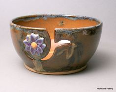 Yarn Knitting Bowl Crochet Bowl by  Hurricane Pottery. $35.00, via Etsy.