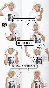 Read Imagens Para Telemóveis from the story BTS memes by (Mulher do Hobi♥) with reads. Bts Suga, Bts Taehyung, Bts Bangtan Boy, Bts Memes, Bts Rap Monster, Foto Bts, Namjoon, Rapmon, Wallpapers Kpop