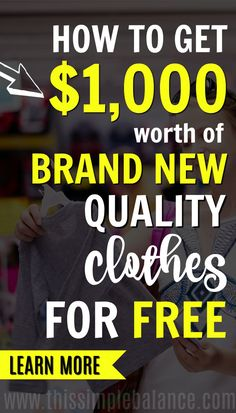 On a tight budget? Check out one way I save thousands of dollars a year on clothes. This strategy is a long-term game, but over time, you can clothe your entire family in brand new clothes for FREE. Ways To Save Money, How To Get Money, Money Saving Tips, Money Tips, Money Fast, Cigarette Coupons Free Printable, Free Coupons, Stuff For Free, Free Stuff By Mail