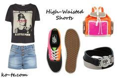 ways to wear high waisted shorts
