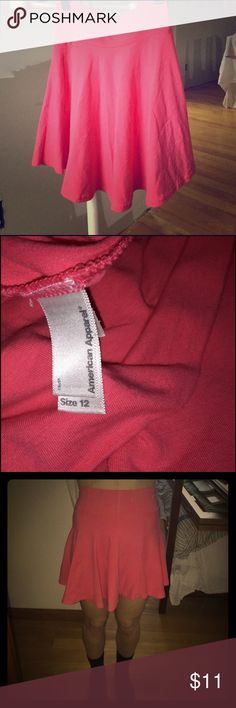 American apparel pink skirt Soft light material that is stretchy and form fits very comfortably American Apparel Skirts Mini