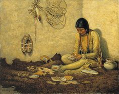 Carl Moon A Moccasin Maker by griffinlb, via Flickr