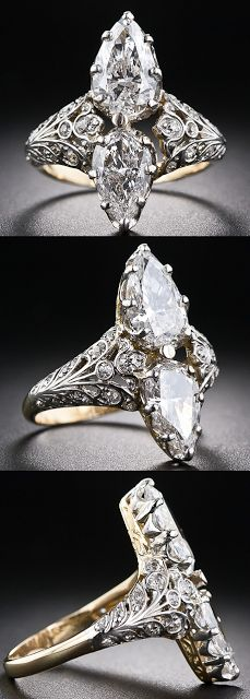 Circa 1900, twin diamond ring.Wow.