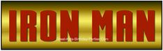 Free Iron Man Font for personalizing Iron Man Party printables!
