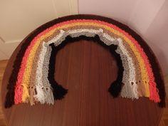 Gay Bear Pride Flag Crochet Scarf by DigenisFashionShop on Etsy