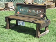 Cool Bench...I wouldn't have this in my yard but I still think it's awesome! lol