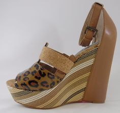 Rachel Roy Womens Shainah Brown Wedges Espadrilles 8 M #RachelRoy #PlatformsWedges #Party