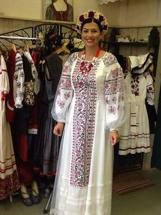 Ukrainian bride in folk embroidery fashion style