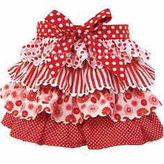 5/4再入荷【メール便OK】OobiBaby Red assorted ティアードスカート1-2Y,2-3Y 10P06jul10【楽天市場】