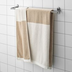 HIMLEÅN Bath sheet, beige, mélange, This warm, cozy towel pampers you with well-being. The soft mélange effect of the colors accentuates the softness of the material.
