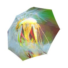 Dandelion Nature Flower Modern Art Foldable Umbrella.