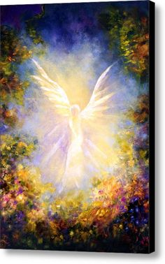 Angel Descending Canvas Print / Canvas Art By Marina Petro