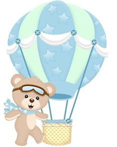 New baby shower elefante globos ideas Scrapbooking Image, Hot Air Balloon Clipart, Scrapbook Bebe, Bear Theme, Baby Shawer, Baby Shower Decorations For Boys, Baby Prints, Baby Birthday, Baby Boy Shower
