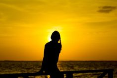Psychology, Silhouette, Celestial, Sunset, Outdoor, Beaches, Psicologia, Outdoors, Sands