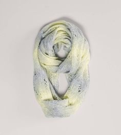 Gray AEO Ombre Pointelle Loop Scarf